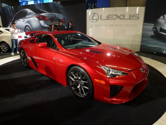Lexus LFA Concept Car Front Side View