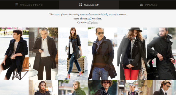 Burberry's UGC campaign for their famous trench coats