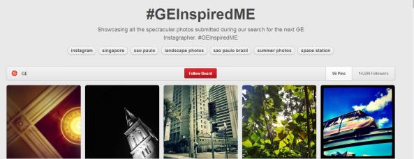 #GEInspiredMe Pinterest UGC campaign