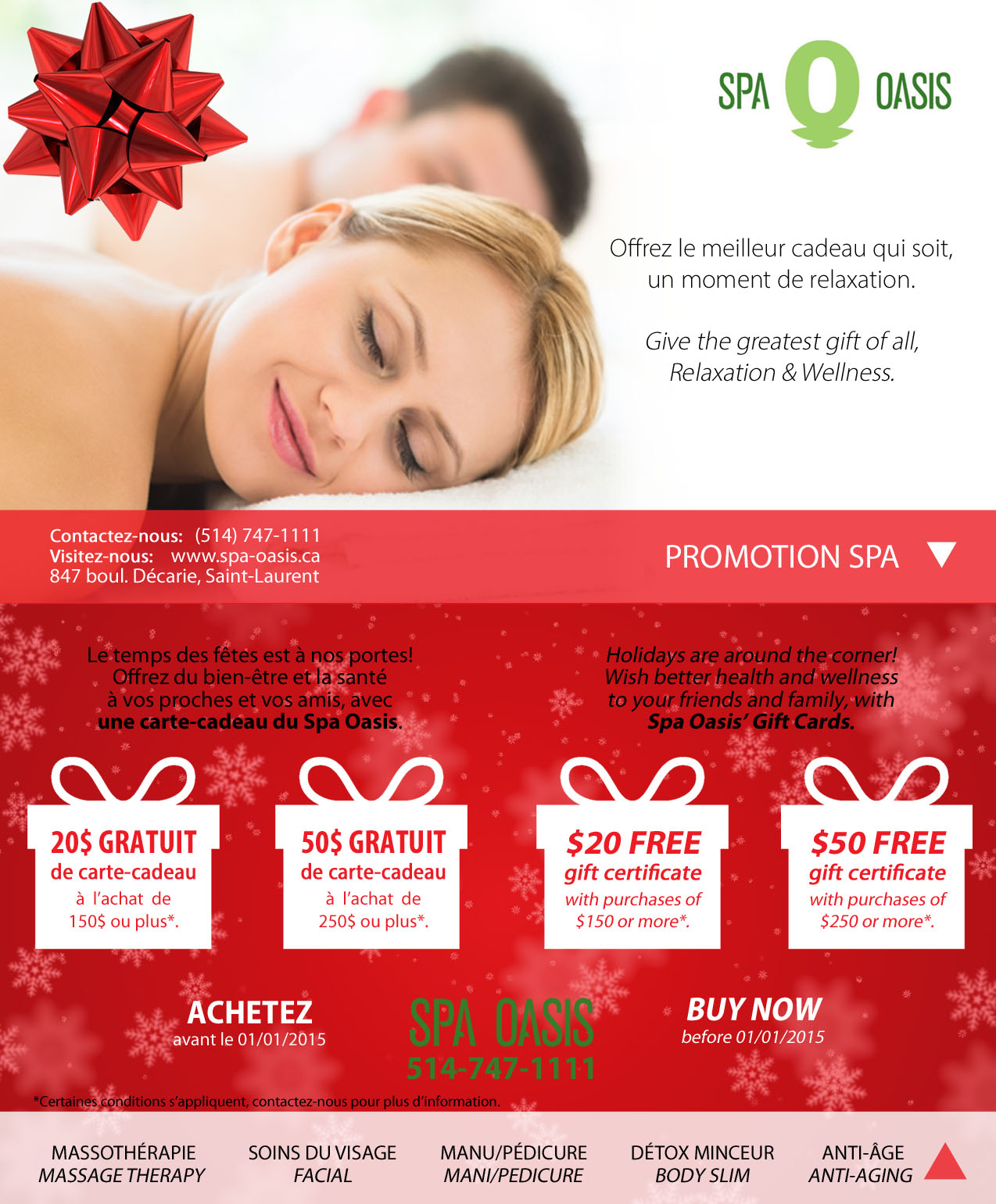 How to successfully promote your spa online in for 12 days of christmas salon specials