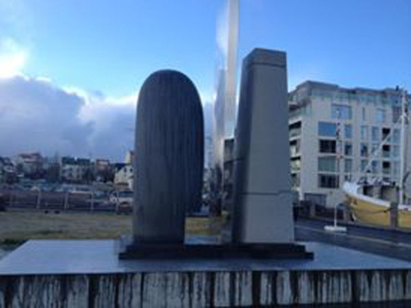Sculpture commemorating EVE Online from CCP Games