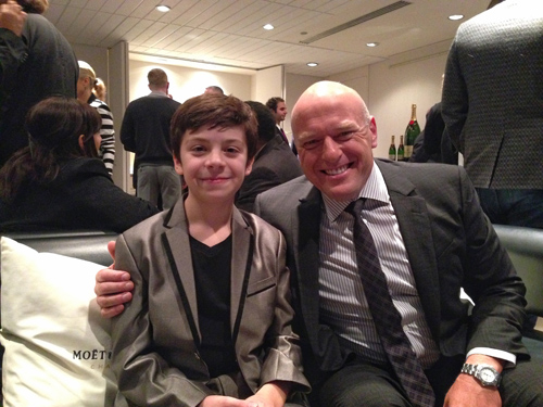 Actor Peter Dacunha with Dean Norris at the Remember premiere, TIFF 2015