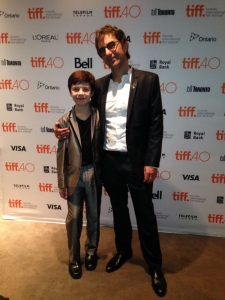 Actor Peter Dacunha with director Atom Egoyan at the Remember premiere at TIFF 2015