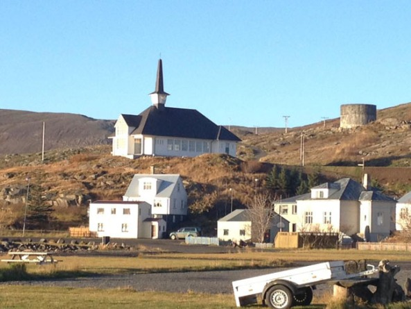 Church in the northern town of Holmavik.