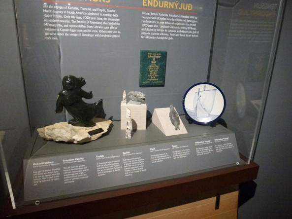 Commemorative gifts from the Íslendingur's voyage to Newfoundland