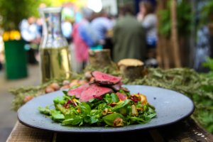 Wood Pigeon Hazelnut Salad Featured in Moosemeat and Marmalade Season 3
