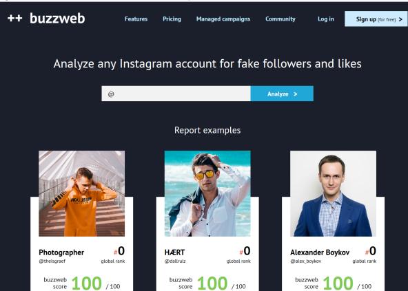 BuzzWeb Influencer Indentification Tool