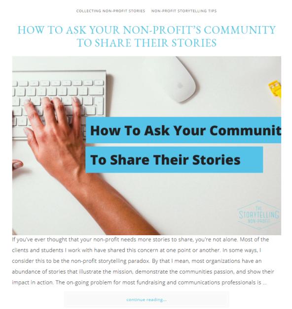 Non-Profit Blog Post